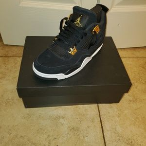 Air Jordan Retro 4 Royalty Black and Gold